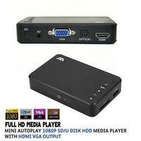 VOXLINK Full HD Media player Mini Autoplay 1080p SD/U Disk HDD USB2.0 External