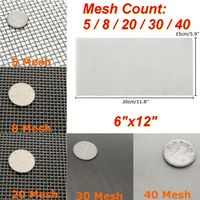 Mayitr 1pc Stainless Steel Woven Wire Screening Filter Sheet 5/8/20/30/40 Mesh