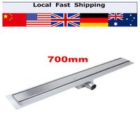VGEBY 1Pcs Stainless Steel Linear Long Shower Grate Channel Tile Bathroom Floor Drain