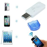 mosunx USB Wireless Handsfree Bluetooth Audio Music Receiver Adapter for iPhone 4 5