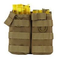 CQC Tactical MOLLE Double Open Top Mag M4/M16 Magazine Pouch Airsoft Military
