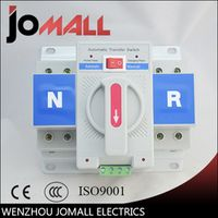 2P 63A 230V MCB type white color  Dual Power Automatic transfer switch ATS Rated voltage 220V /380V Rated frequency 50/60Hz
