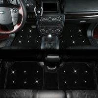 luxury plush anti slip washable girls women universal car floor mats diamond for all