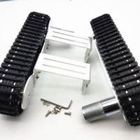 Tracker Crawler Aluminium alloy Platform Damping balance Metal Tank Robot Chassis high power Spring Creative DIY crawler