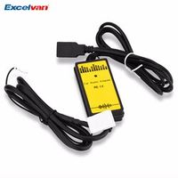 Excelvan WT-USB-VW02 Car Adapter MP3 Audio Interface AUX USB SD 12P Connect