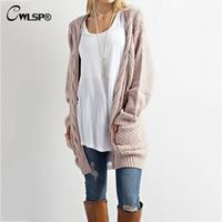 CWLSP Casual Long Sleeve Computer Knitted Autumn Women