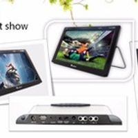 2017 Hot selling 9inch protable dvb t2 smart tv with DVB box for Russian market factory price portable to watch world cup