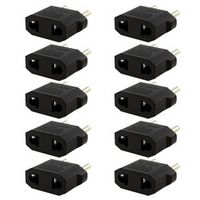 New 10PCS US/AU to EU Travel Converter AC Power Plug Power Charger Adapter