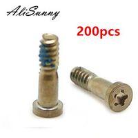 AliSunny 200pcs Back Cover 6S 6 Plus Bottom Dock Connector Five Star Pentalobe Screws