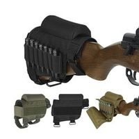 SWAFTY Nylon Tactical Rifle Cheek Rest Riser Pad Holder Carrier Canvas Pouch Round