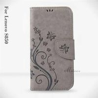 Mikoor Fashion Butterfly Wallet Leather 5.0For Case For Lenovo S850