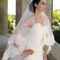 MOOZ BRIDAL Two Layers Wedding Veil Bridal Veils
