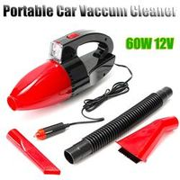 Autoleader 60W 12V Power Portable Vacuum Cleaner Wet Dry Dual-use Super Suction Red