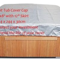 "Hot Tub Cover Cap 8'x8' with 12"" Skirt 244 x 244 x 30cm Protect your investment Extend the life of your cover"