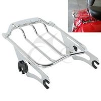 Chrome Air Wing Two Up 2up Luggage Rack For Harley Touring Street Glide road glide FLHX 2009-2016 motorcycle