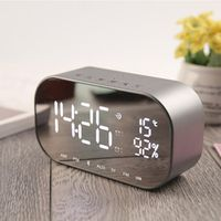 EAAGD LED Alarm Clock with FM Radio Bluetooth Speaker
