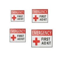 Safurance 4 Size outdoor camping hiking emergency first aid Sticker waterproof Label Signs Red Cross Health Safety