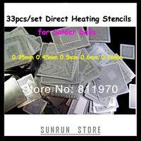 33pcs Direct Heating Templates BGA Small Repairing Stencil Plates For Reballing
