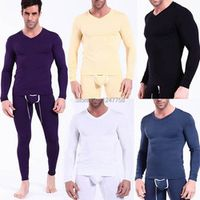 Sexy Men's Underwear Long V-neck T-shirts Modal Thermal