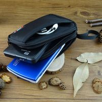 Firmnail double Layer Cable Organizer Carry Case HDD USB Flash hard disk drive bag