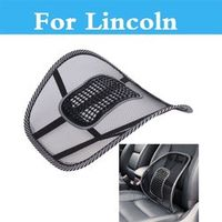 CUTEQUEEN Mesh Cloth Car Seat Cushion Waist Back Support Lumbar Pillow For Lincoln
