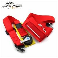 """stenzhorn Tuning Monster Seat Belts with logo Competition 4 Point Snap-In 3""""Seat"""