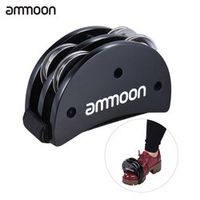 ammoon Elliptical Cajon Box Drum Companion Accessory Foot Jingle Tambourine for Hand