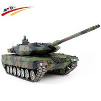RC Tank  German Leopard 2 A6 2.4G Radio Control Battle Tank with BB + Smoking + Sounding Effect Electronic Tank Model Toy Hobby