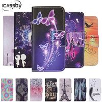 ICASSBY For Case Samsung Galaxy A5200 PU Leather Silicon Flip Wallet Phone Cover For