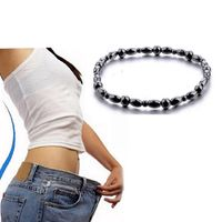 Sumifun Magnetic Therapy slimming Anklets Bracelet Black Gallstone Hematite Chain
