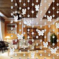 HOUSEEN Modern Romantic Butterfly Beading Door