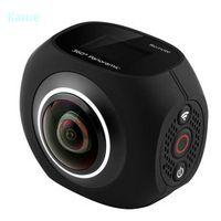 "karue  Dual Lens Panoramic Camera 4k HD 360 Camera Wifi 1"" Screen Mini Digital Camera Video For Android iphone6/6s/7 iOS"