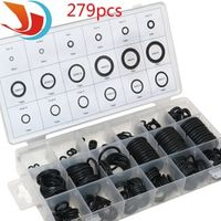 279 pcs Rubber O Ring O-Ring Washer Seals Watertightness Assortment Different Size With Plastic Box Kit