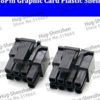 Free Shipping 30pcs/lot  ATX / EPS PCI-E GPU 4.2mm 5557 8p (6+2) Pin male Power Connector Housing Plastic Shell For PC Power