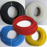 4mm Braided FiberGlass sleeving High Voltage 200 Deg.C 1200V Flame Resistant Wire Cable Protect Fiber Glass sleeving