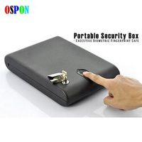 Fingerprint Safe Box Solid Steel Security Key Gun Valuables Jewelry Box Protable Security Biometric Fingerprint Safes Strongbox