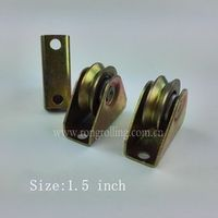 "1.5Inch Sliding Gate Wheel Outer support groove ""V"" with 1PCS 6000RS Bearing"