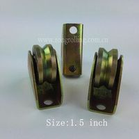 "1.5 Inch Sliding Gate Pulley Outer support groove ""V"" with 1PCS 6000RS Bearing"