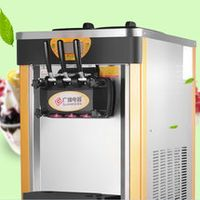 Shipping business desktop soft ice cream machine commercial ice cream machine all stainless steel automatic cone machine