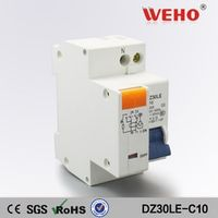 DPNL 10A 230V~ 50HZ/60HZ 1P+N Residual current Circuit breaker with over current and Leakage protection RCBO