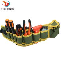 Canvas Toolkit Multifunctional Waist Bag Waterproofing / Wear-resisting Electrical Hardware Mechanic's Repair Hand Tool Bag