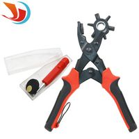 1pcs High Quality 6 Size Kit Revolving Heavy Duty Leather Belt Hole Punch Puncher Cut Eyelet Plier