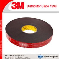 3M VHB Tape 4611 for bare metal, gray, 45mil, , 10mm x 33M  (Pack of 1)