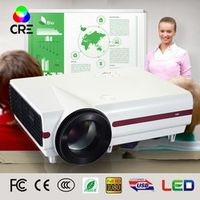 CRE Portable LCD LED 720P home theatre 3500Lumens Mini projector /proyector with USB
