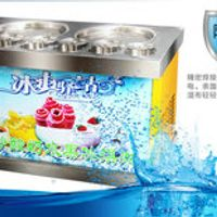 The new dual-pressure 220V1800W double boiler commercial fried ice machine fried fruit fry ice cream machine roll