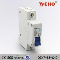 1P 10A D type 240V/415V 50HZ/60HZ Mini Circuit breaker MCB C45