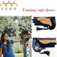 Professional Training eagle gloves Cowhide thick anti-catching anti-bite anti-friction Goshawk Falcon peregrine falcon Training