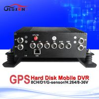 GISION 8ch mobile gps tracker black box mdvr with 2t hard disk cycle recording pc
