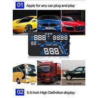 "diagauto For Q7 5.5"" GPS Head up display with M/h MPH Speeding Warning Windshield"
