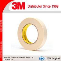 Scotch Flatback Masking Tape 250, 1inX60YD  (Pack of 2)